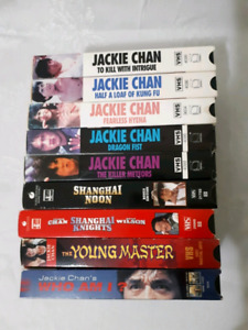 Collectors Jackie Chan VHS x9