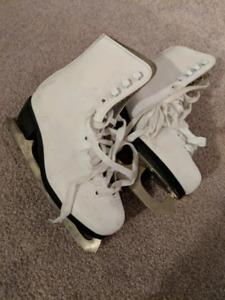 Figure Skates and Hockey Skates and Helmet