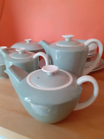 Poole pottery green cream twintone 68 items