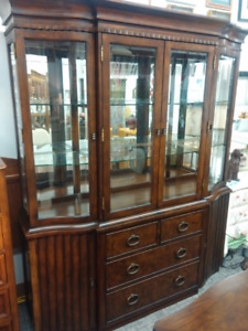 Beautiful Dark Brown China Cabinet