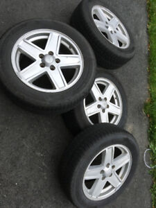 """17"""" tires on Jeep OEM alloy rims"""