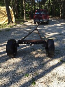 Trailer Dolley axle wheels