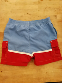 Blue Red Boy's Shorts Swimming 18 Months old