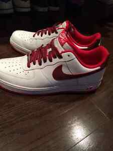 White/red  nike airforce
