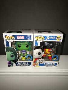 Funko POP! Comikaze Chrome Colossus and She-Hulk