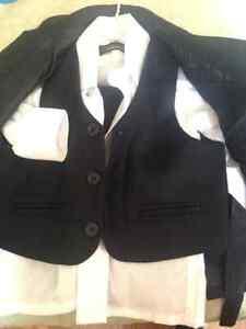 18mths Black 5 pc Suit - jacket, shirt, vest, pants & tie