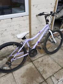 Light purple mountain bike needs work £25