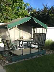 NEW PRICE !  Patio Glider Table and Seats