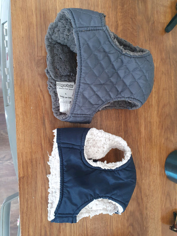 Wag-a-Tude Quilted Dog Harnesses (x2 blue and grey)