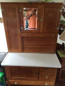 "PRICE DROP~!!  Antique ""Hoosier"" kitchen cabinet"""