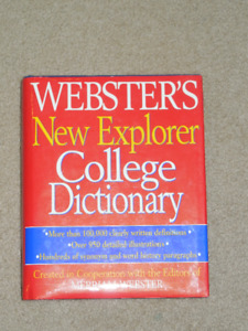 Websters New Explorer College Dictionary