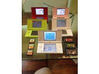 Nintendo DS various colours - Five available plus games