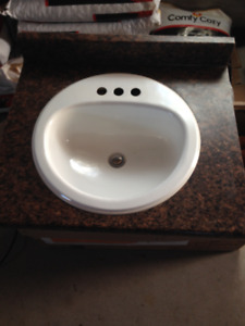 Bathroom vanity top and sink