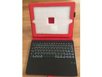 Leather iPad Case with Rechargeable Keyboard