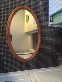 Ducal pine oval mirror