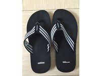 Unisex Adidas flip flops size 8