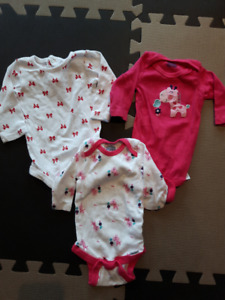0-3 Month Girl Clothes Lot