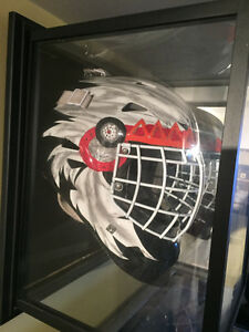 Airbrush Artwork on Goalie Masks