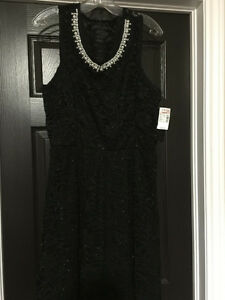 NWT black lace and pearl dress