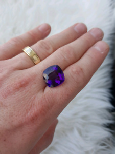 Top colour, vivid purple rwanda amethyst! 17.5 carats