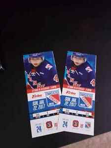 Kitchener Rangers Tickets Jan.22 @2pm