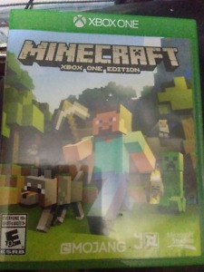 Minecraft xbox one version hardly used $10 or best offer