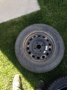 4 Honda steel rims with winters