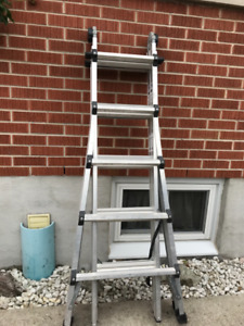 Heavy duty Construction type extension ladder