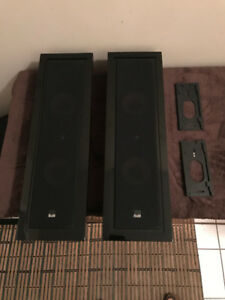 B&W FPM4 On Wall Speakers Piano Black