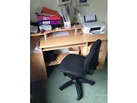 Office set - desk, chair and bookshelf