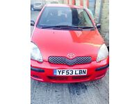 toyota yaris 53 plate No engine spare or repair
