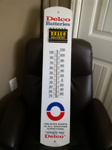 Thermometer ,1965 AC Delco Dry Charge Battery sign  (Original)