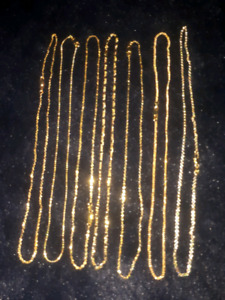 "Gorgeous 18"" gold plated chains"