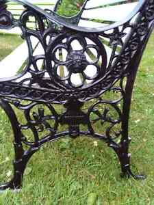 Vintage cast irion/wood benches