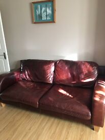3 Seater & 2 Seater Leather Sofa