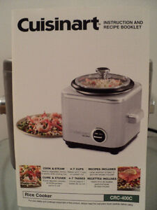 CUISINART RICE COOKER WITH INSTRUCTION & RECIPE BOOKLET-LIKE NEW Cornwall Ontario image 2