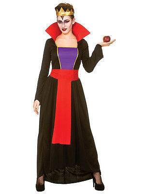 Adult Evil Wicked Queen Ladies Fancy Dress Halloween Womens Snow White Costume