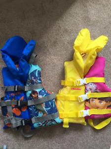 Kids life jackets 30-60lbs