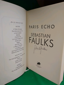 Paris Echo, Sebastian Faulks signed copy