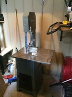 Meat band saw and grinder