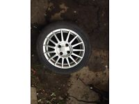 FIESTA ZETEC S ALLOY AND TYRE FOR SALE