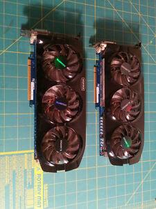 2x Gigabyte GTX670 cards