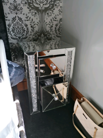 X2 crushed diamond bedside cabinet