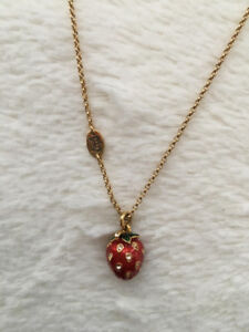 JUICY COUTURE collier fraise