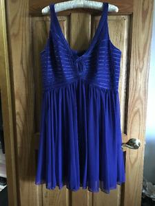 Blue Empire Waist Dress