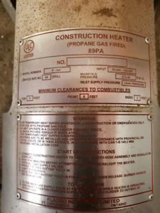 Propane Fired Construction Heater