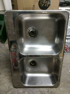 kitchen sinks double top mounted