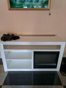 White Electric Fireplace Heater - Asking $250