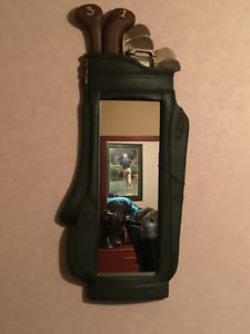 GOLF BAG MIRROR. QUIRKY AND FUN