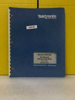 Tektronix 7623ar7623a Storage Oscilloscope Opts Operators Instruction Manual